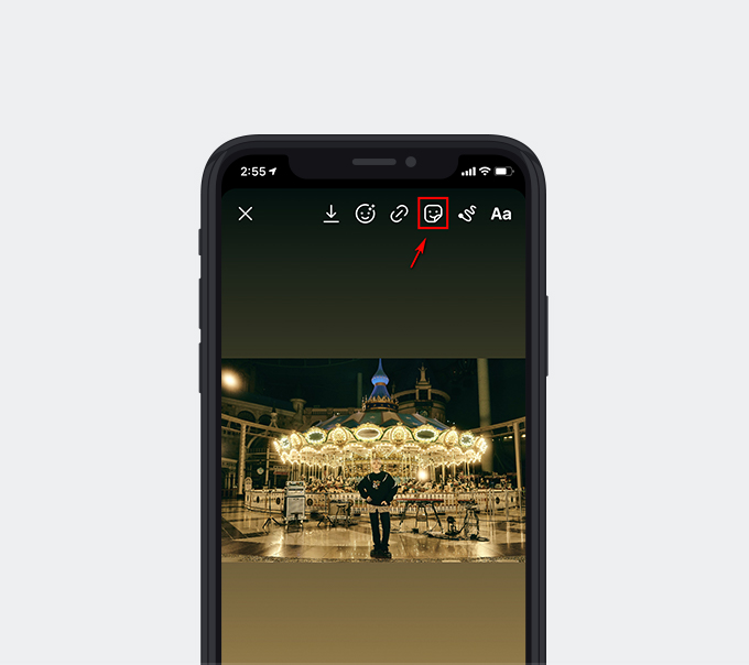 Upload one photo to the Story editor