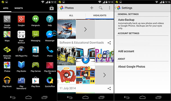 how to backup photos on android
