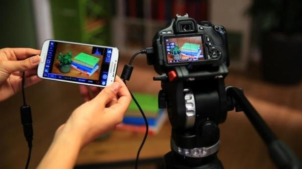 connect digital camera to android device